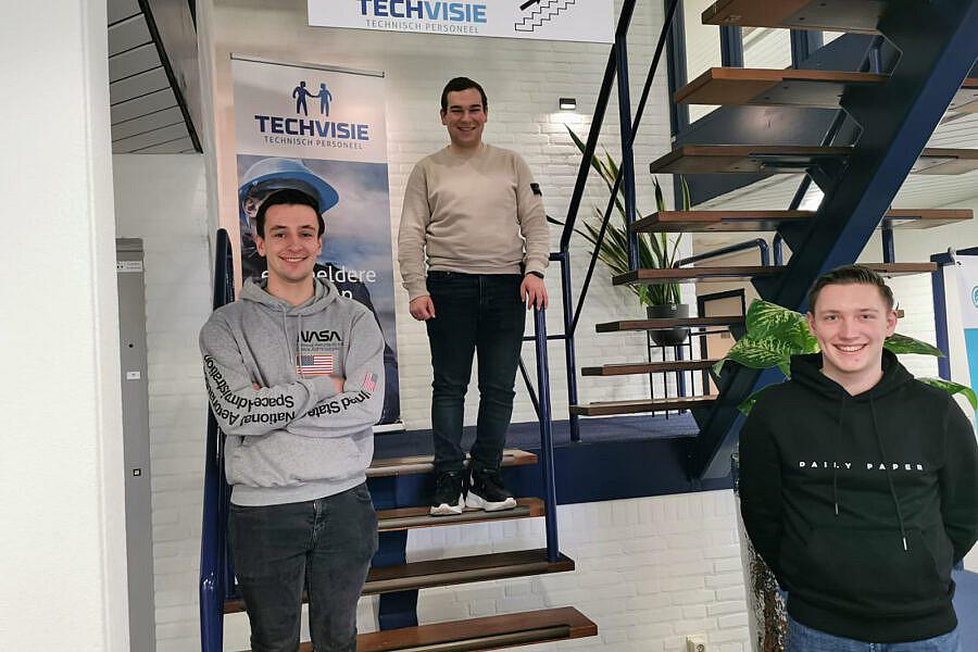 Stage lopen bij Techvisie - Laurens, Quinten en Thom