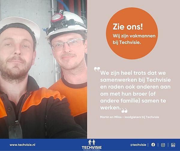 """Martin en Milos – loodgieters bij Techvisie: """"We zijn trots dat we samen mogen werken."""""""