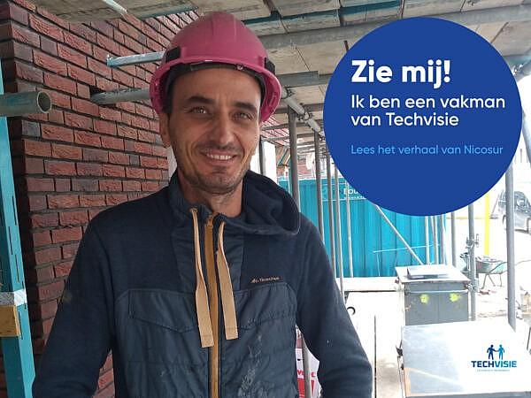 """Nicosur – loodgieter bij Techvisie: """"Grote projecten zijn het leukst."""""""