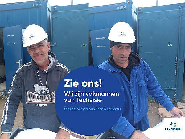 """Sorin & Laurentiu – loodgieters bij Techvisie: """"Wij kennen elkaar al van onze schooltijd, zijn beste vrienden en nu ook collega's!"""""""